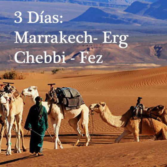 3 Días: Marrakech – Erg Chebbi – Fez