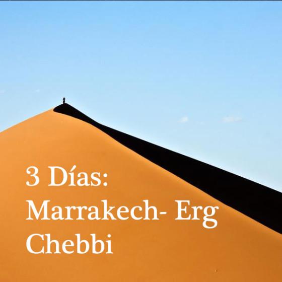 3 Días: Marrakech - Erg Chebbi