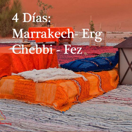 4 Días: Marrakech – Erg Chebbi – Fez
