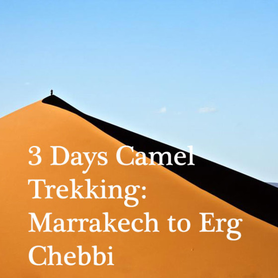 3 Days Camel Trekking: Marrakech to Erg Chebbi