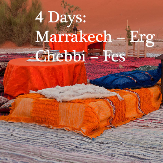 4 Days: Marrakech – Erg Chebbi – Fes